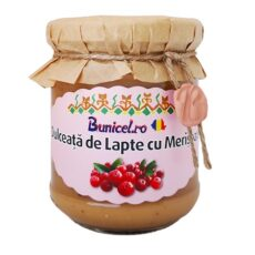 Dulceata de Lapte cu Merisoare - produs Artizanal de Bunicel